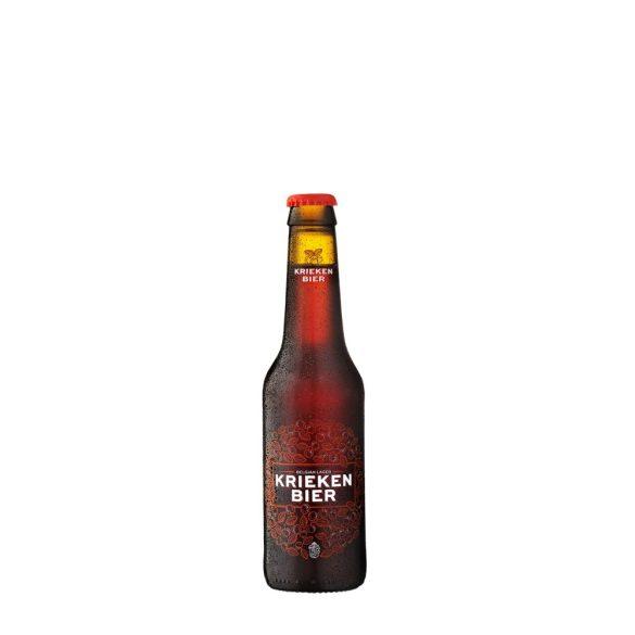 Krieken lager, meggyes belga kézműves sör – 0,33 lit. eldobható üveg