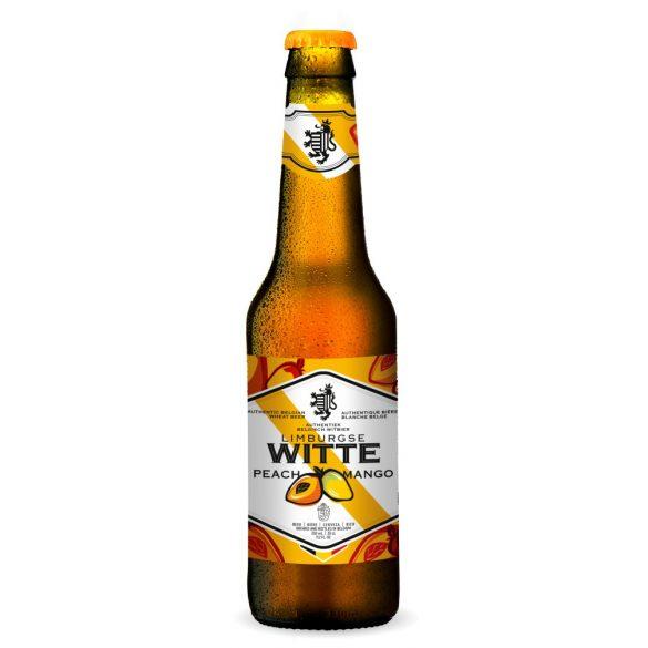 Limburgse Witte Peac & Mango 0,33 eldobható üveges