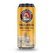 Paulaner  Münchner Hell lager, világos sör - 0,5 liter dobozos.