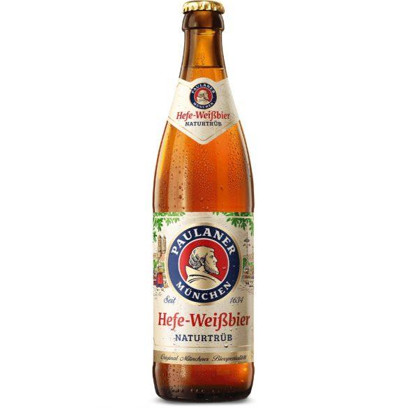Paulaner Hefe Weissbier, szűretlen búzasör - 0,5 lit. betétdíjas üveges