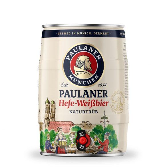 Paulaner Hefe Weissbier, szűretlen búzasör – 5 literes partyhordó
