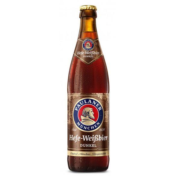 Paulaner Hefe-Weissbier dunkel, barna búzasör - 0,5 lit. betétdíjas üveges
