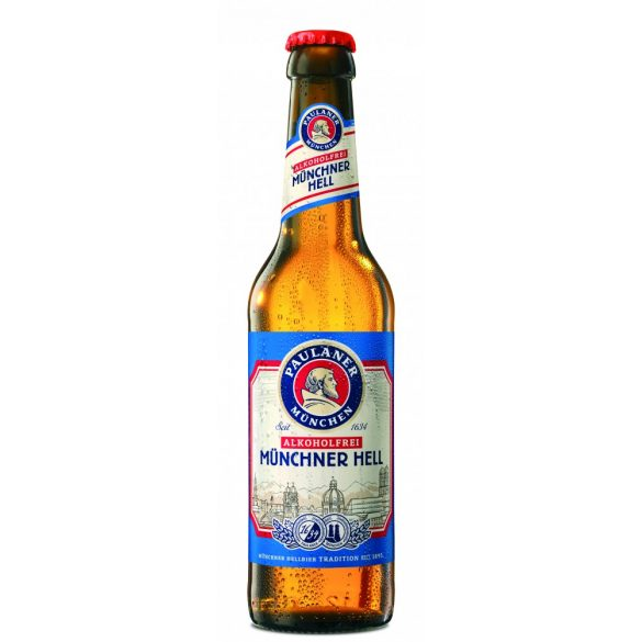 Paulaner Münchner Hell lager, alkoholmentes – 0,33 lit. betétdíjas üveges