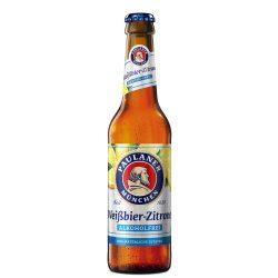Paulaner Hefe Weissbier, szűretlen citromos búzasör, alkoholmentes – 0,33 lit. betédíjas üveges