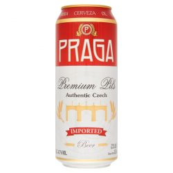 Praga Premium Pils, cseh világos sör – 0,5 lit. dobozos