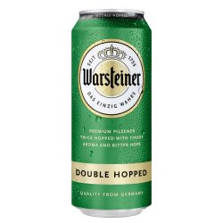 Warsteiner Doublehopped, duplakomlós pilseni sör – 0,5 lit. dobozos