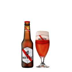 Limburgse Witte strawbery, epres szüretlen búzasör - 0,33 lit. eldobható üveg