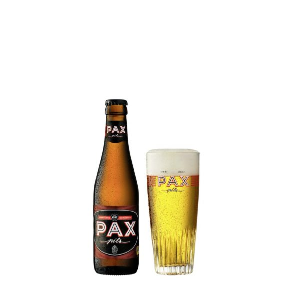 PAX Pils, belga kézműves sör - 0,33 lit. eldobható üveg