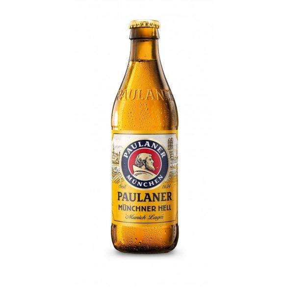 Paulaner  Münchner Hell lager, világos sör - 0,33 lit. eldobható üveges