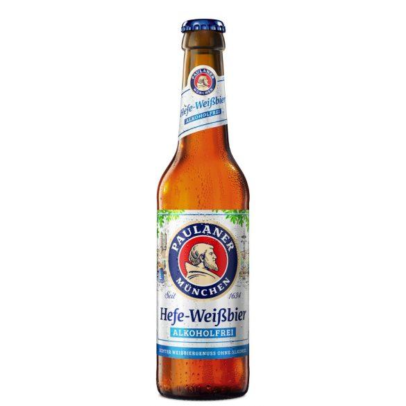 Paulaner Hefe Weissbier, szűretlen búzasör, alkoholmentes – 0,33 lit. betétdíjas üveges