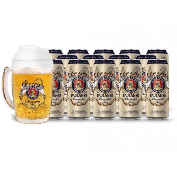 15db Paulaner Oktoberfest 0,5L dobozos sör ajándék korsóval