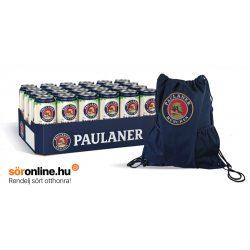 24db PAULANER 0,5L dobozos búzasör  ajándék sportzsákkal