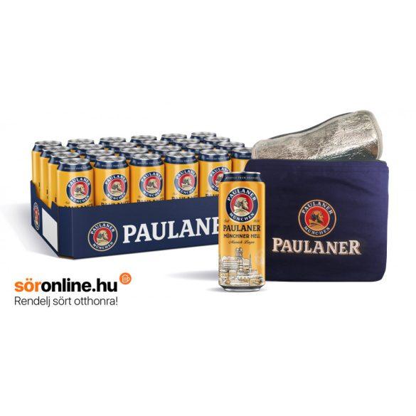 24db PAULANER Lager 0,5L dobozos sör ajándék hűtőtáskával